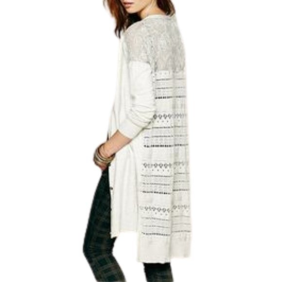 Free People Quincey Back to You Cardigan Duster XS